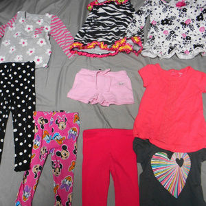 Lot of 9 girl's size 2T clothes